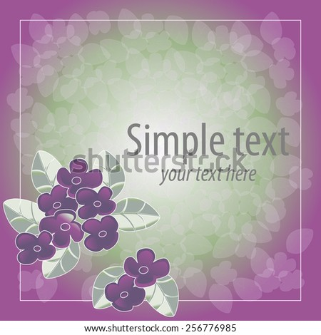 Spring floral pattern. Invitation or greeting card. - stock vector