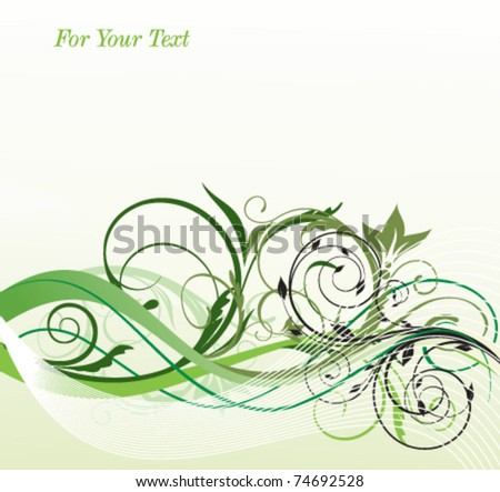 spring floral style - stock vector