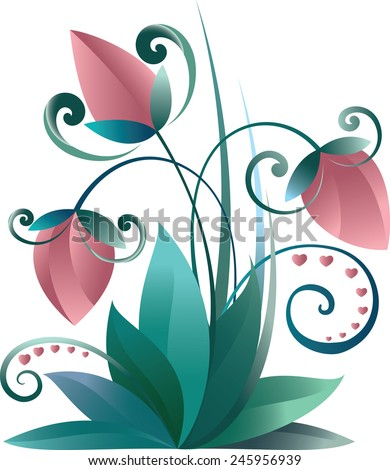 Spring flowers I - stock vector