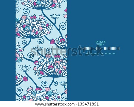 Spring Flowers Seamless Horizontal Pattern Background - stock vector