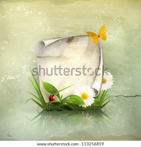 Spring frame, old-style vector - stock vector