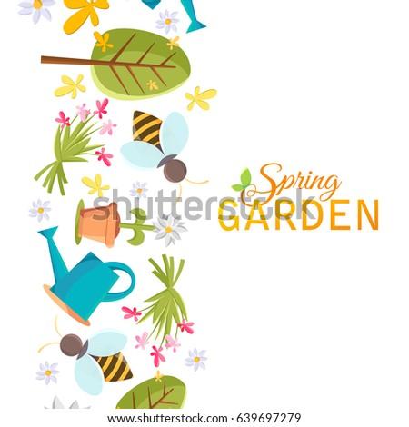 Garden Design Graphics spring garden design poster images tree stock vector 622899830