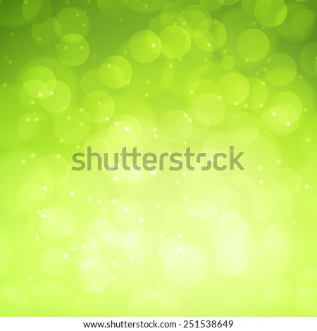 Spring green bokeh abstract light background. Vector illustration