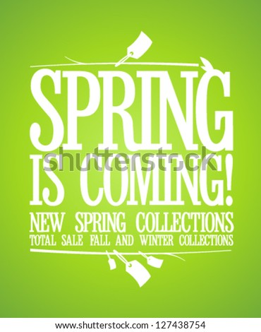 Spring is coming design template, new spring collections