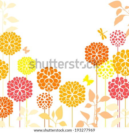 Spring meadow flowers - stock vector