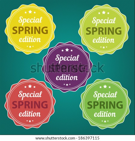 spring offer stickers