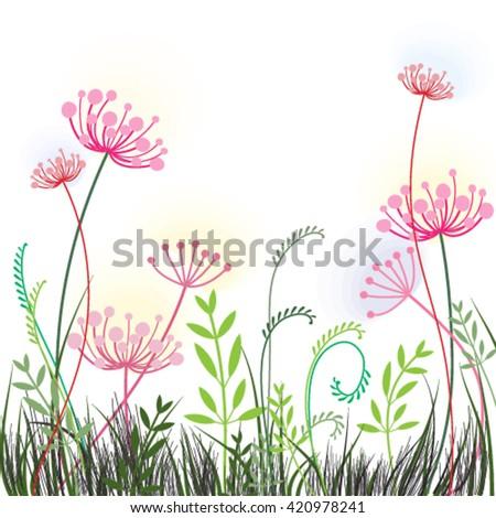 Spring or summer design dandelion for invitation, wedding or greeting cards, Vector eps10 - stock vector