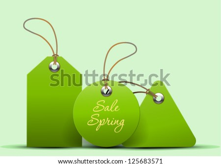 Spring price tags - stock vector