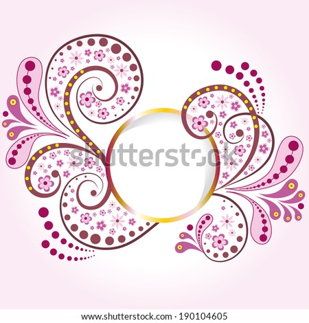 Spring round frame - stock vector