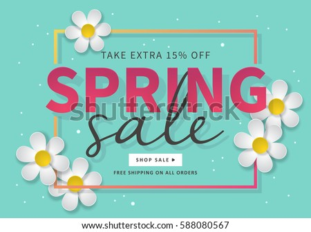 spring sale banner template social media stock vector 588080567 shutterstock. Black Bedroom Furniture Sets. Home Design Ideas