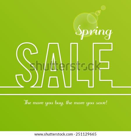 Spring Sale design template - stock vector