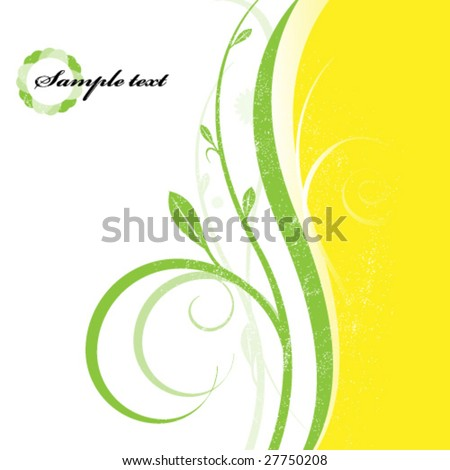 Spring sample text background