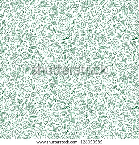 Spring - seamless background - stock vector
