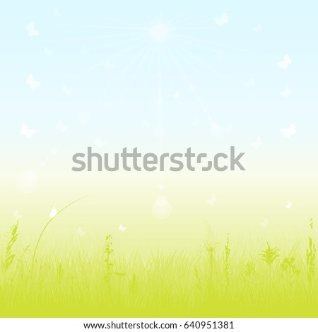 Spring/Summer nature background. Vector.