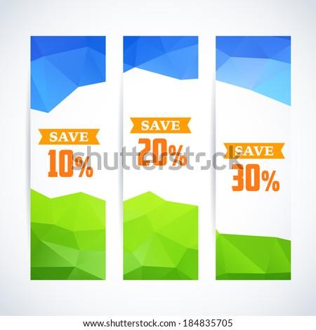 Spring  summer Sale stylish banner. - stock vector