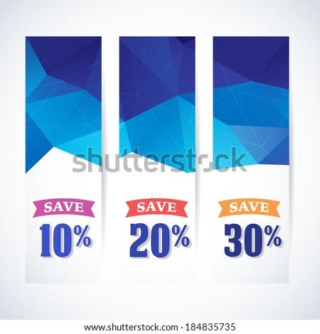 Spring  summer vector Sale stylish banner.  - stock vector