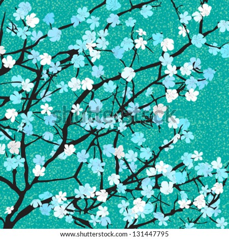 Spring time floral background for print - stock vector