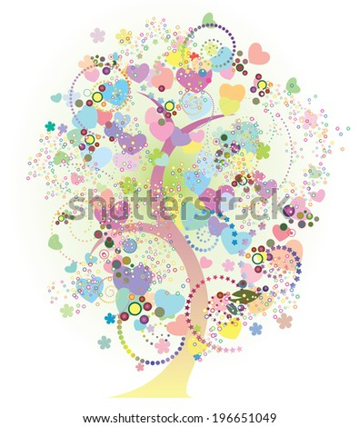 Spring tree. - stock vector