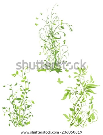 Spring trees - stock vector