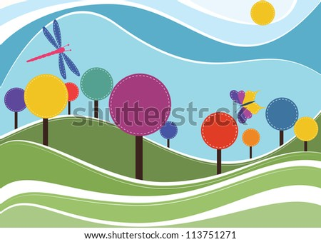 Spring vector background - stock vector