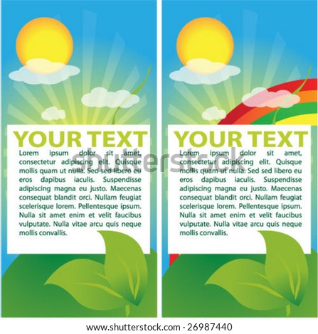 Spring vector banners with text field - stock vector