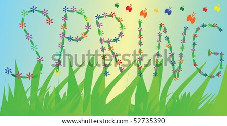 Spring - vector illustration.