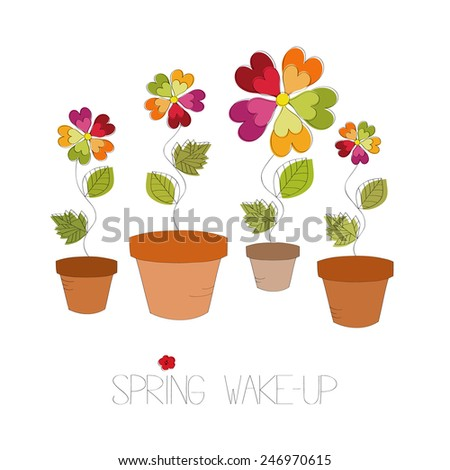 Spring wake-up background vector