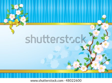 Spring wallpaper. Seasonal multicolour background with copy space - stock vector