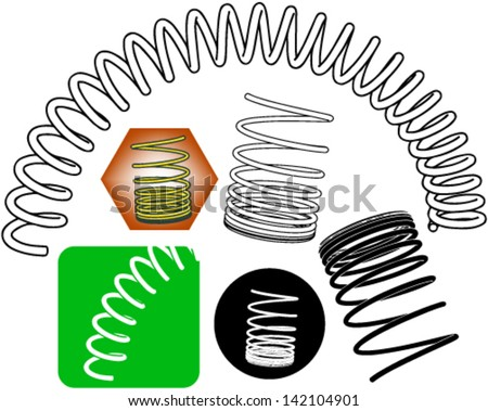 Springs clip-art - stock vector