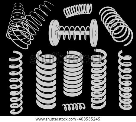 Springs clip-art - stock vector