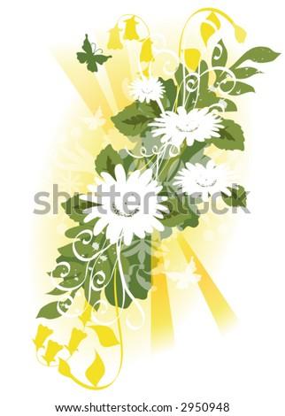 Springtime bouquet vector. - stock vector