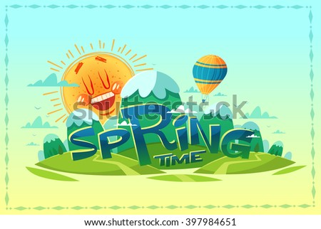 Springtime. Poster / card / background. Vector illustration - stock vector