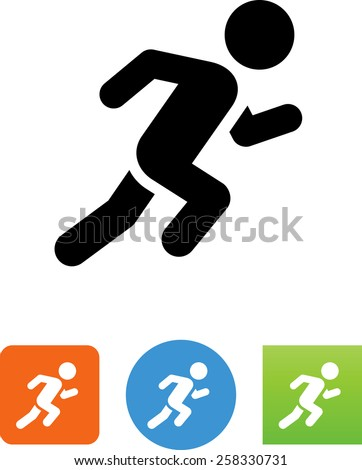 Sprinter symbol for download. Vector icons for video, mobile apps, Web sites and print projects.  - stock vector