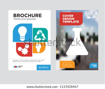 sprout brochure flyer design template abstract stock vector