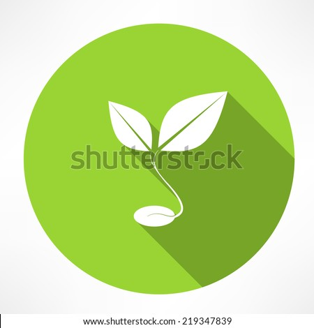 sprout grain icon - stock vector