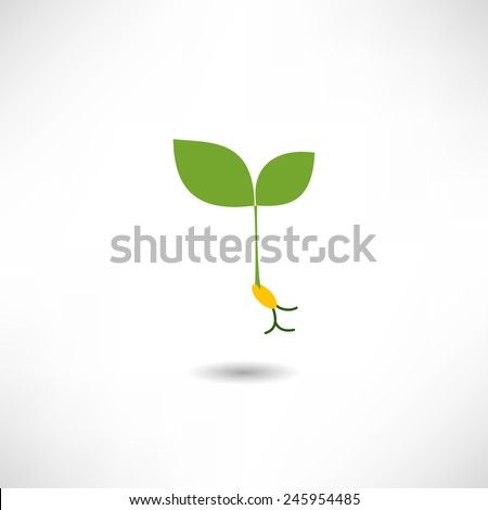 Sprout icon - stock vector