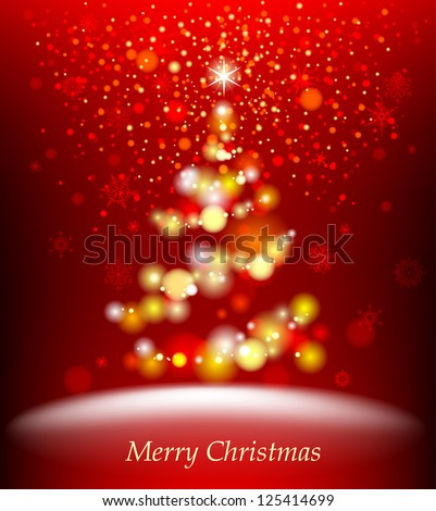 Spruce. Abstract christmas tree. Vector eps 10. - stock vector