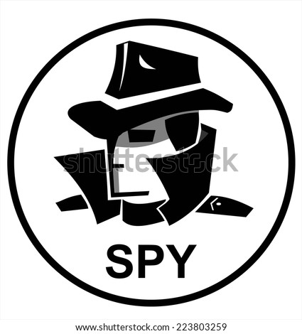 spy agent - stock vector