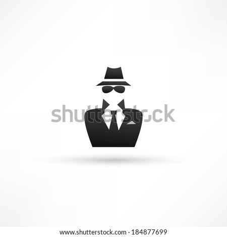 spy icon - stock vector