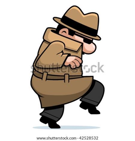Spy Sneaking - stock vector