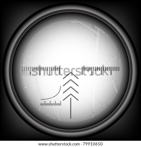 Spyglass with layer - stock vector