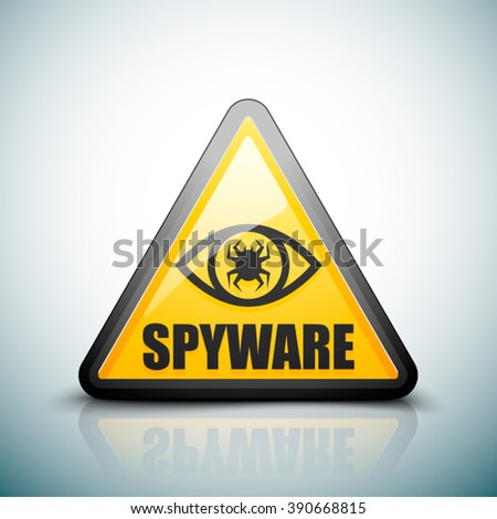 Spyware hazard sign - stock vector