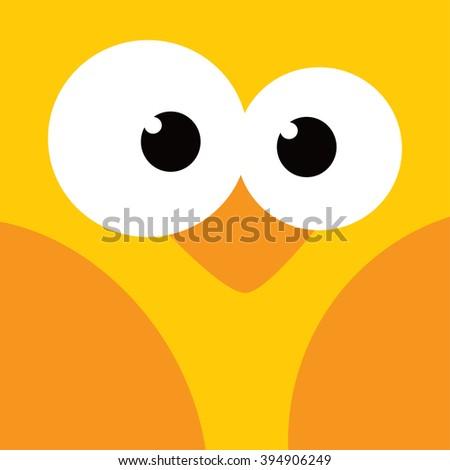 square bird face icon button theme vector art illustration - stock vector