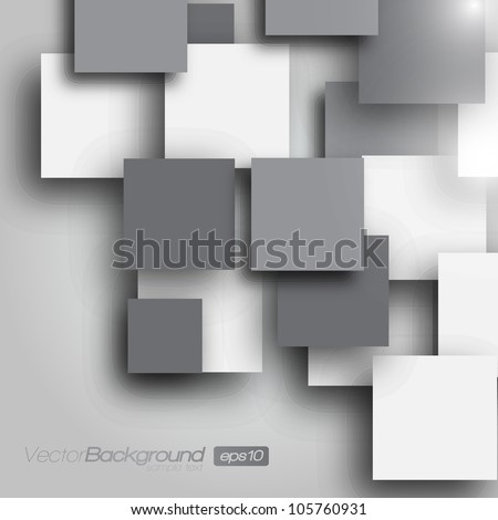 Square blank background - Vector Design Concept