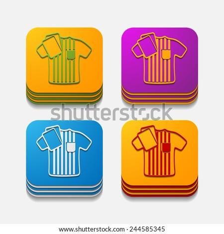 square button: referee - stock vector