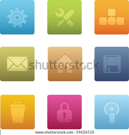 Square Computer Icons - stock vector
