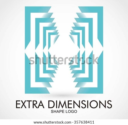 Square dimensions of lines abstract vector and logo design or template technology room business icon of company identity symbol concept - stock vector
