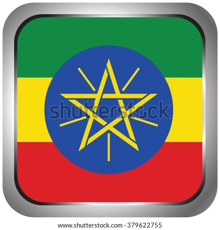 Square Flag Icon of Ethiopia