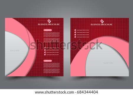 Square Flyer Template Brochure Design Annual Stock Vector 684344404