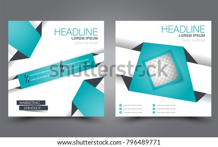 Square Flyer Template Simple Brochure Design Stock Vector Hd